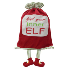 Felt christmas sack with magic elf pattern