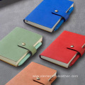 Hot Stamping Woven Pu Synthetic Leather Notebook Cover