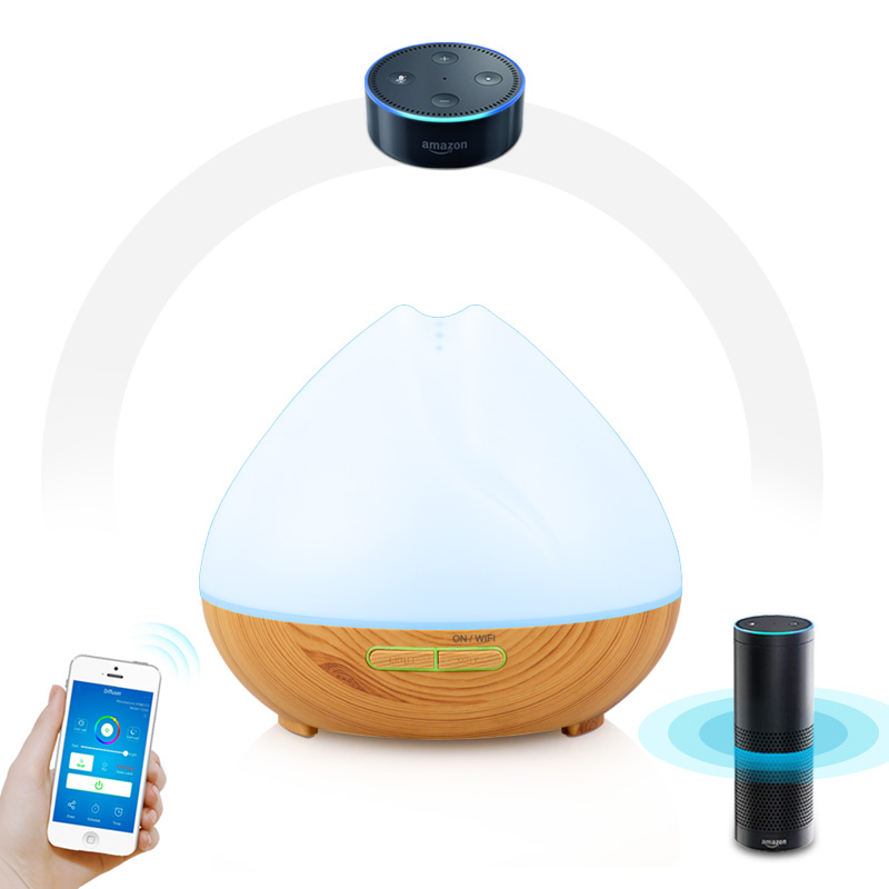 Intelligent LED Humidifier Essential Oil Diffuser Aroma Aromatherapy Purifier D5