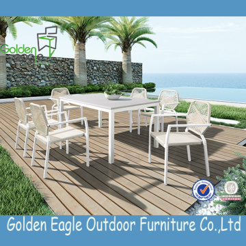 Dining Set Outdoor Furniture Set With Pvc Rope China Manufacturer