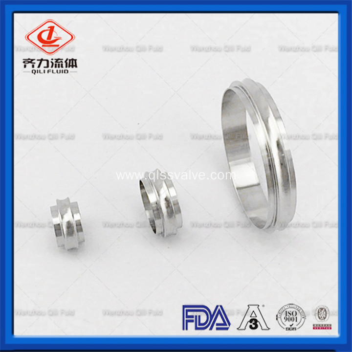 Sanitary Stainless Steel Kf Vacuum Pipe Fitting Ferrule with Rabbet