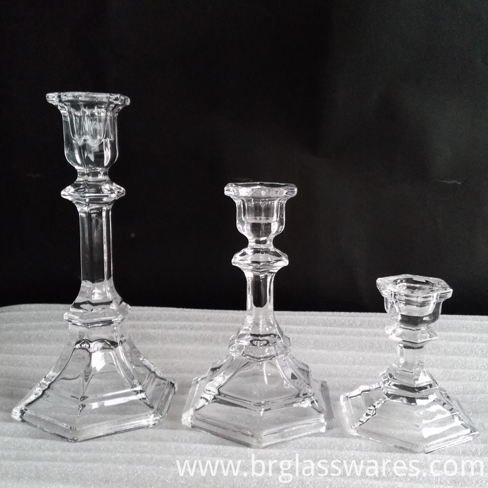 crystal glass candle holder 3