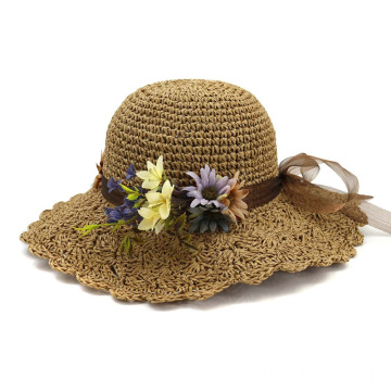 Outing summer straw hat school trip straw cap