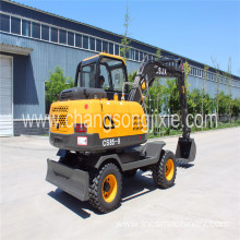 Wheel type mini excavator price 7T 8T digger