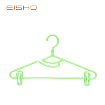 EISHO Hot Sale Plastic Hanger With Clips