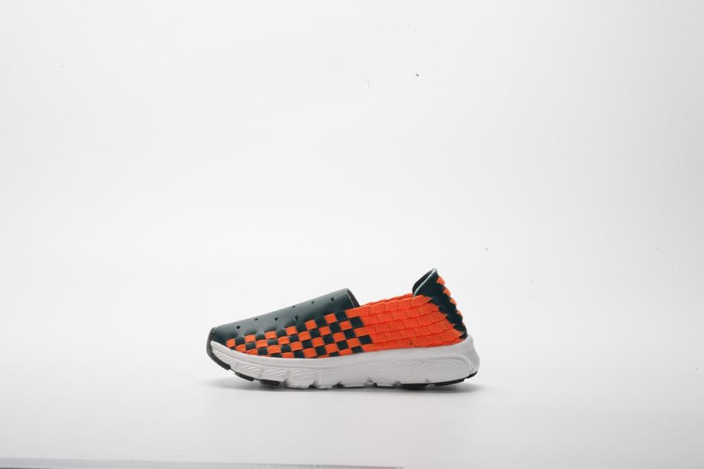 Orange Microfiber Woven Shoes