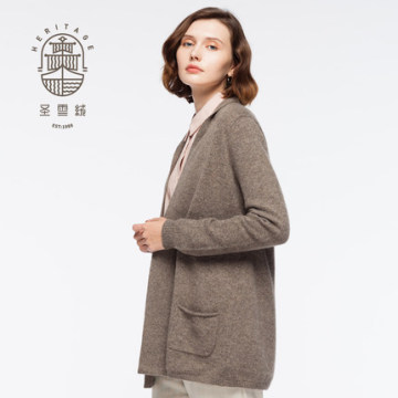 Women's shawl neck pure cashmere cardigan
