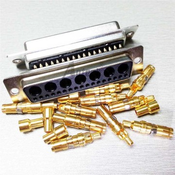 Power D-SUB Connector 43W2 180 degree Solder Female