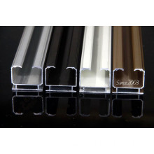 colorful 6063-T5 Invisible curtain track aluminum profiles