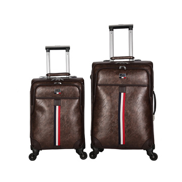 Hot-selling pu leather luggage lattop compartment inside