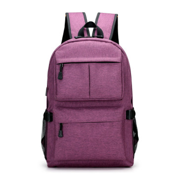 Young men fashion laptop business travel USB backpack