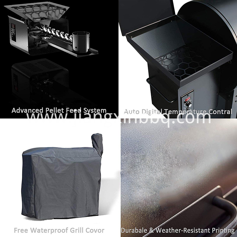 Wood Pellet Grill Smoker 8 In 1 Bbq Auto Temperature