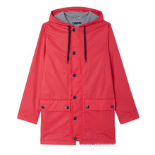 Women's Fashion Lightweight Waterproof PU Rain Jacket