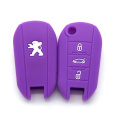 Silicone car key fob case for peugeot 3008