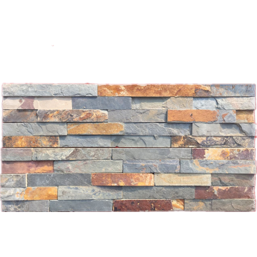 Rusty five strips wall cladding stones