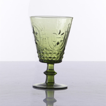 Hand Blown Solid Colored Water Glass Goblets