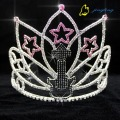 Music Theme Rhinestone Star Pageant Crown