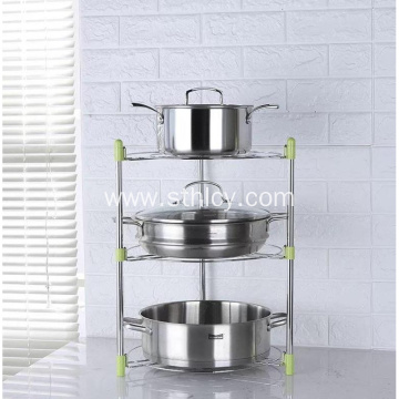 Multifunctional Kitchen Stainless Steel Storage Pot Rack