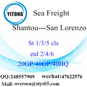 Shantou Port Sea Freight Shipping To San Lorenzo