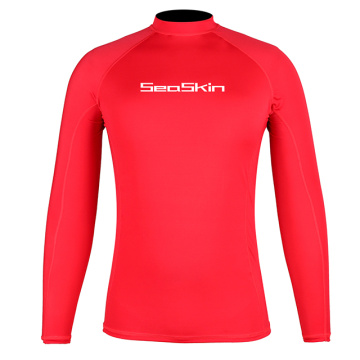 Seaskin Men's Long Sleeve Surf Rash Guard