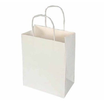 Promotional White Paper Bag With PP Rope Handle
