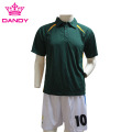 Custom Polyester Green Polo Shirts Mens