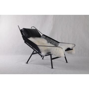 Black PP225 Hans Wegner Flag Halyard Chair Replica