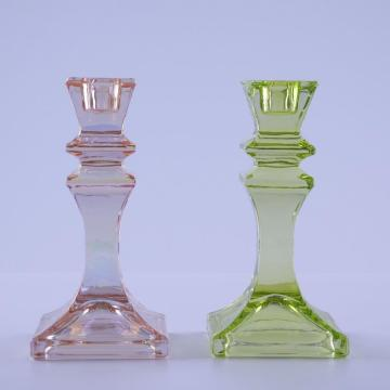Colorful Glass Candle Holder for Pillar