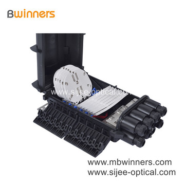 288 Core Fiber Optic Splice Closure Horizontal Fiber Optic Access Terminal Closure 4 Inlet 4 Outlet