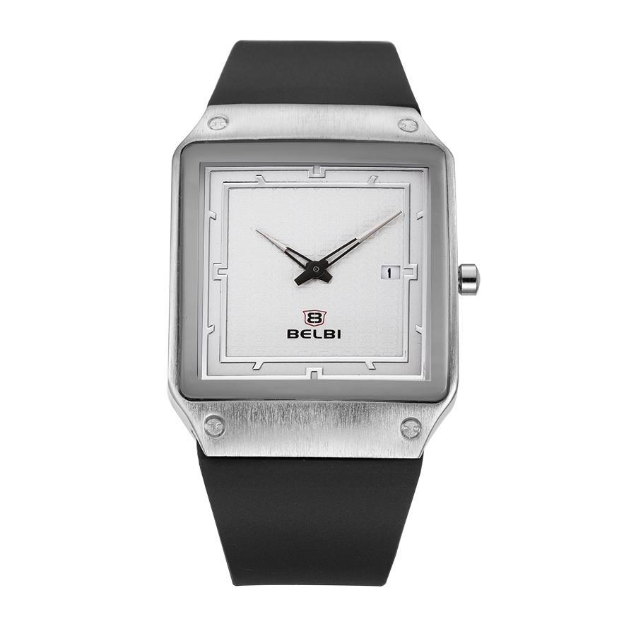 Men's PU Quality Straps Square Calendar Quartz Watch
