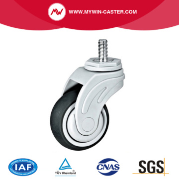 Threaded Stem TPR Medical Caster