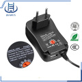 30W Adjustable Voltage Wall Adapter With USB