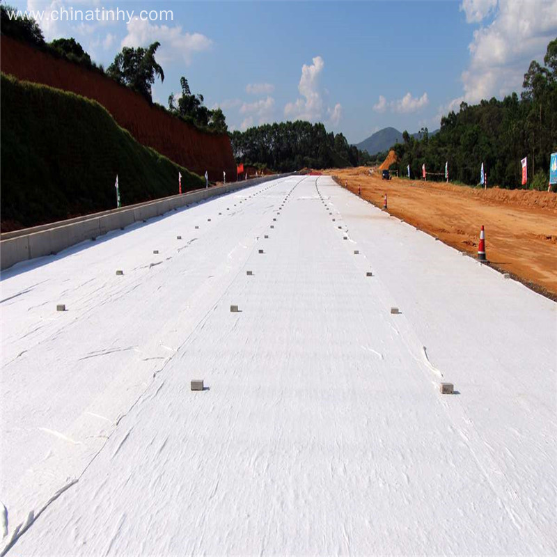 Needle punched reinforced geosynthetic long fiber geotextile