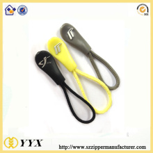 China supplier OEM for Metal Zipper Slider String logo puller plastic zipper puller with cord supply to Portugal Manufacturer