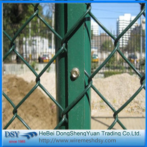 2016 New Galvanized PVC Chain Link Fence