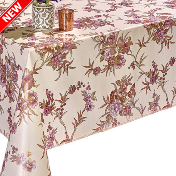 Printed pvc with Flannel Backing Tablecloth