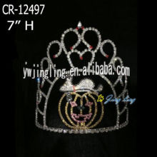 New fashion high quality pumpkin Rhinestone Crowns