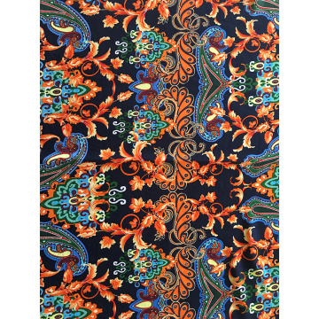 Baroque Design Rayon Poplin shuttle 45S Printing Fabric