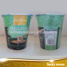 easy to carry cup 65g vegetable flavor noodles