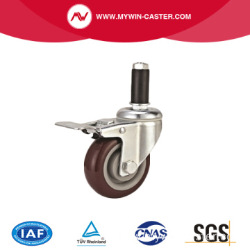 Medium Duty Expander Pin PVC Caster with Brake