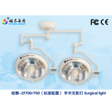 Factory best selling for Halogen Surgery Light medical equipment shadowless ceiling lamp ZF700/700 supply to Mauritania Importers