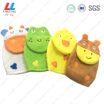 Pretty 3D animal lovely bath gloves
