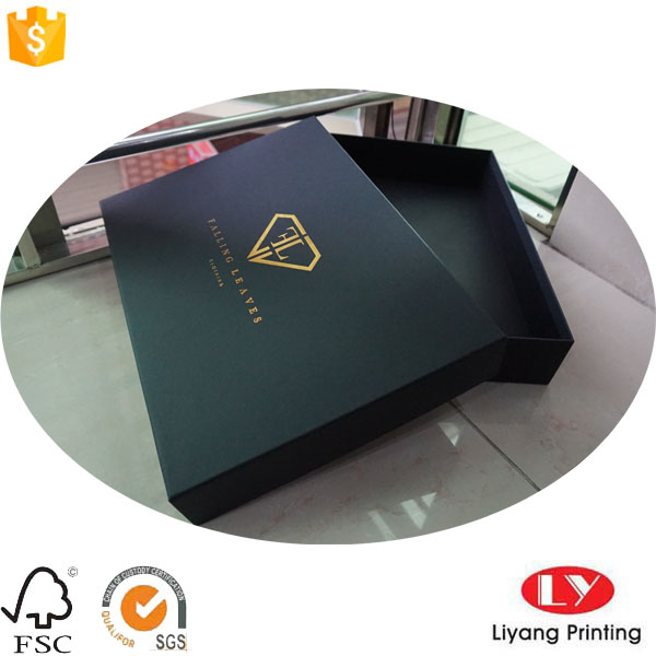 large size black gift box with gold logo