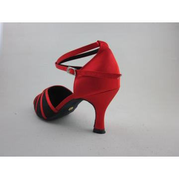 2.5 inch heel girls red latin shoes