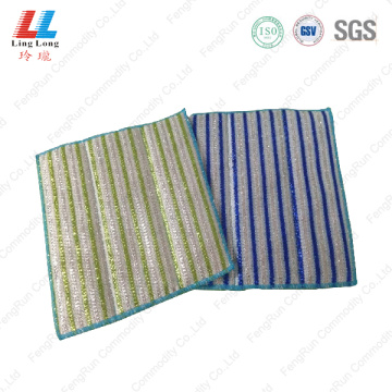 Dishes washing exfoliating sponge cloth