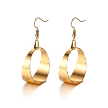 Stainless steel large rose gold hoop earrings