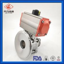 Pneumatic tank bottom ball valves