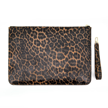 Luxury Trendy Leopard Clutch with Strap Evening Bag