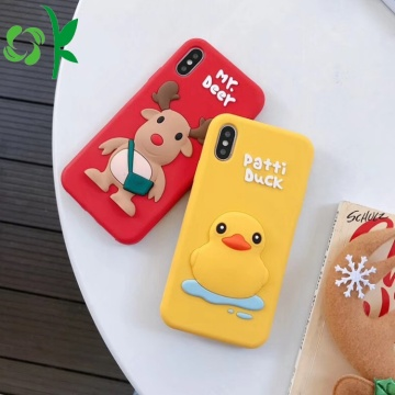 3D Yellow Patti Duck Silicone Phone Case Cover