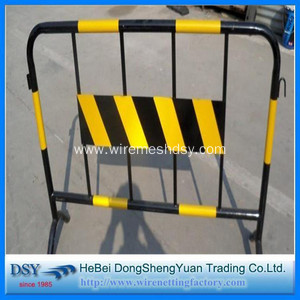 Steel Pipe Warning Temporary Barricade Fence